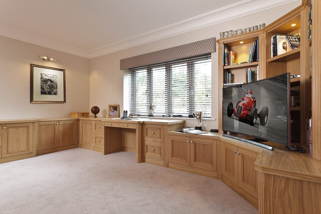 Classic Fitted Light Oak Study 1000