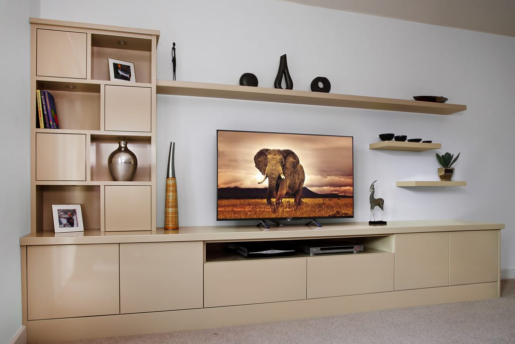 Cream Fitted Media Unit 1000