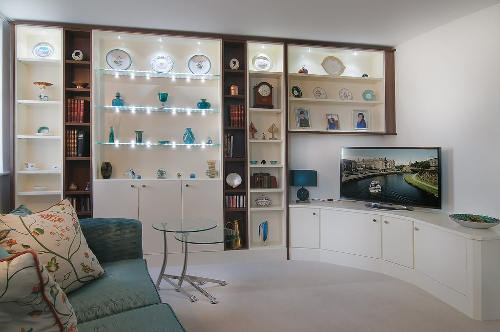White Lounge Shelving 1000