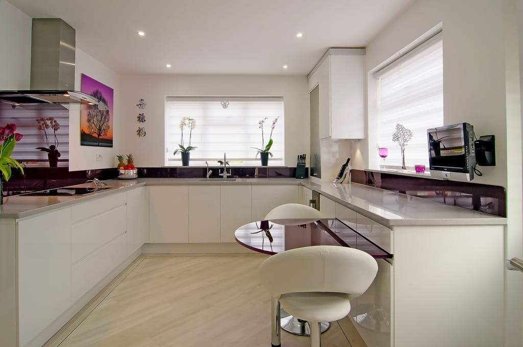 White Purple Kitchen 1000