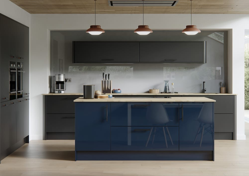 contemporary bespoke kitchen