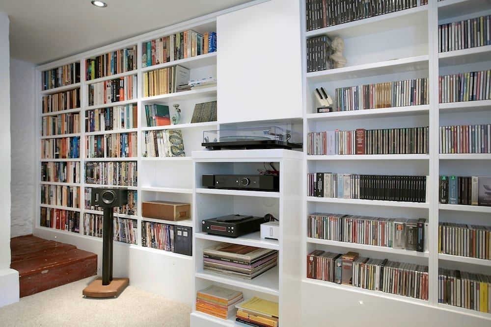 music room basement