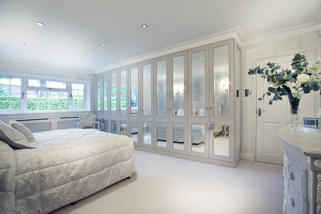 Fitted white bedroom