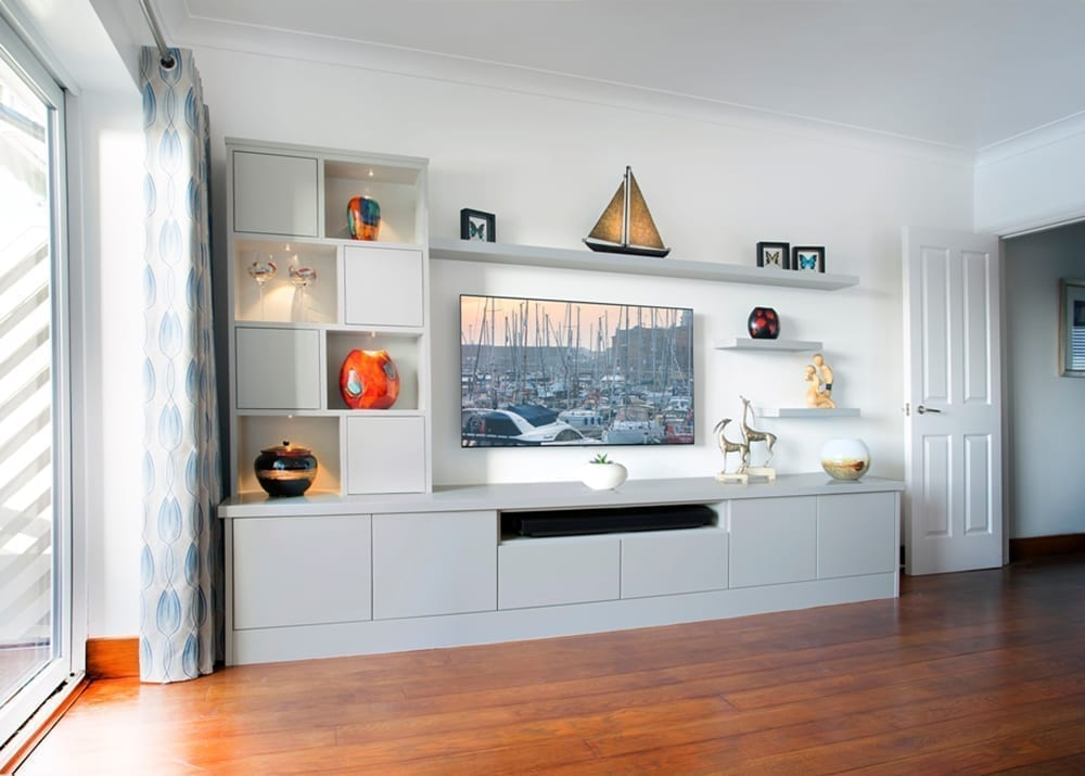 Contemporary White Media Unit
